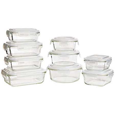 Keeperz 18-Piece Tempered Borosilicate Glass Food Storage