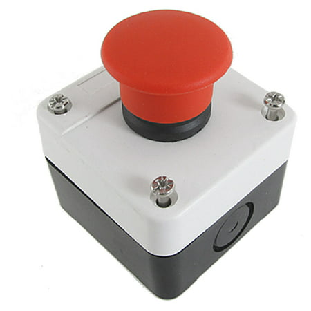 - Normal Close Momentary Red Mushroom Cap Push Button Switch  240V 3A
