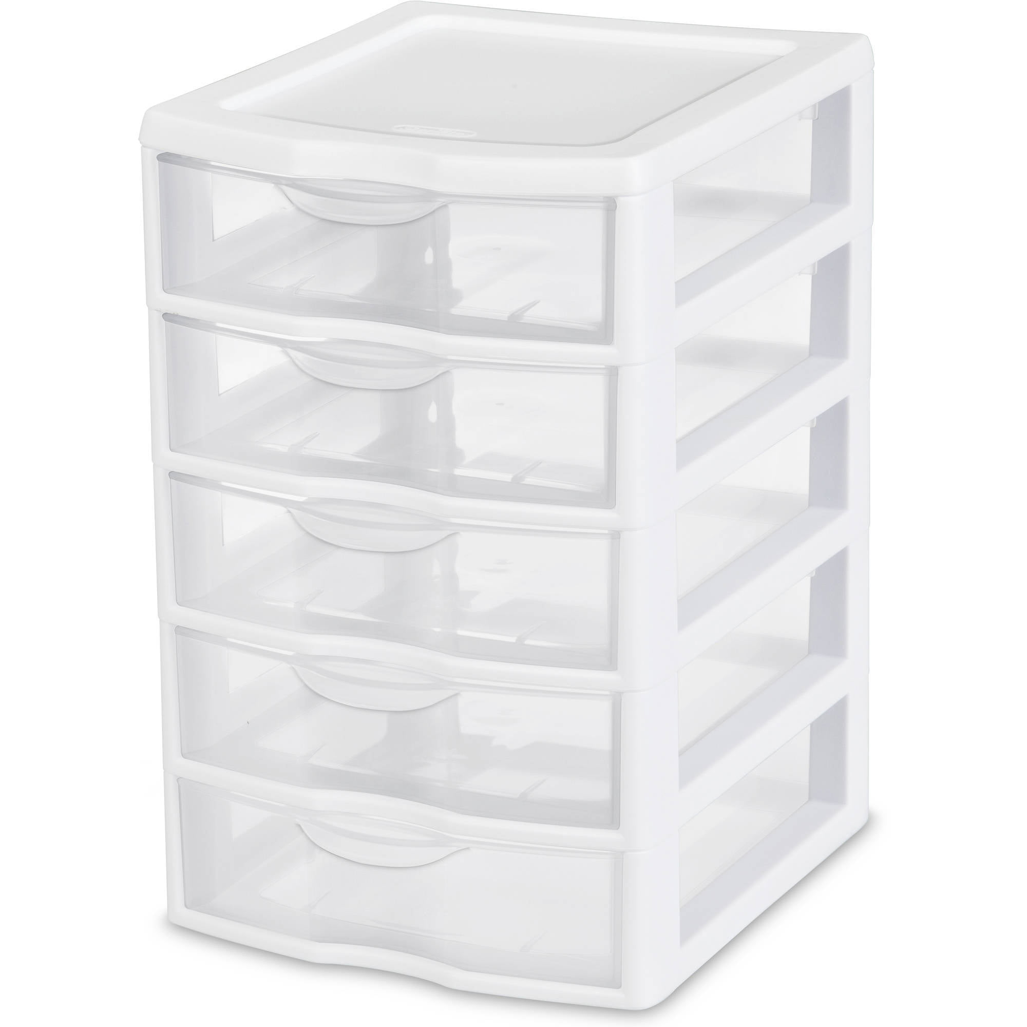 Hefty Modular Clear Storage Bins, 100 Qt. XL Stackable Bin With Latch,  White/Navy   Walmart.com