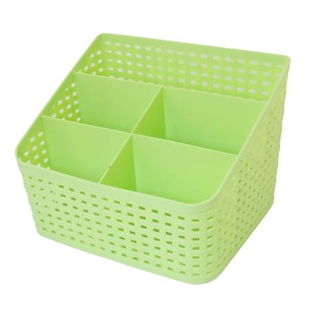 Desktop Sundries Classification 5 Slots Storage Drawer Divider Box Green](Green Storage Bins)