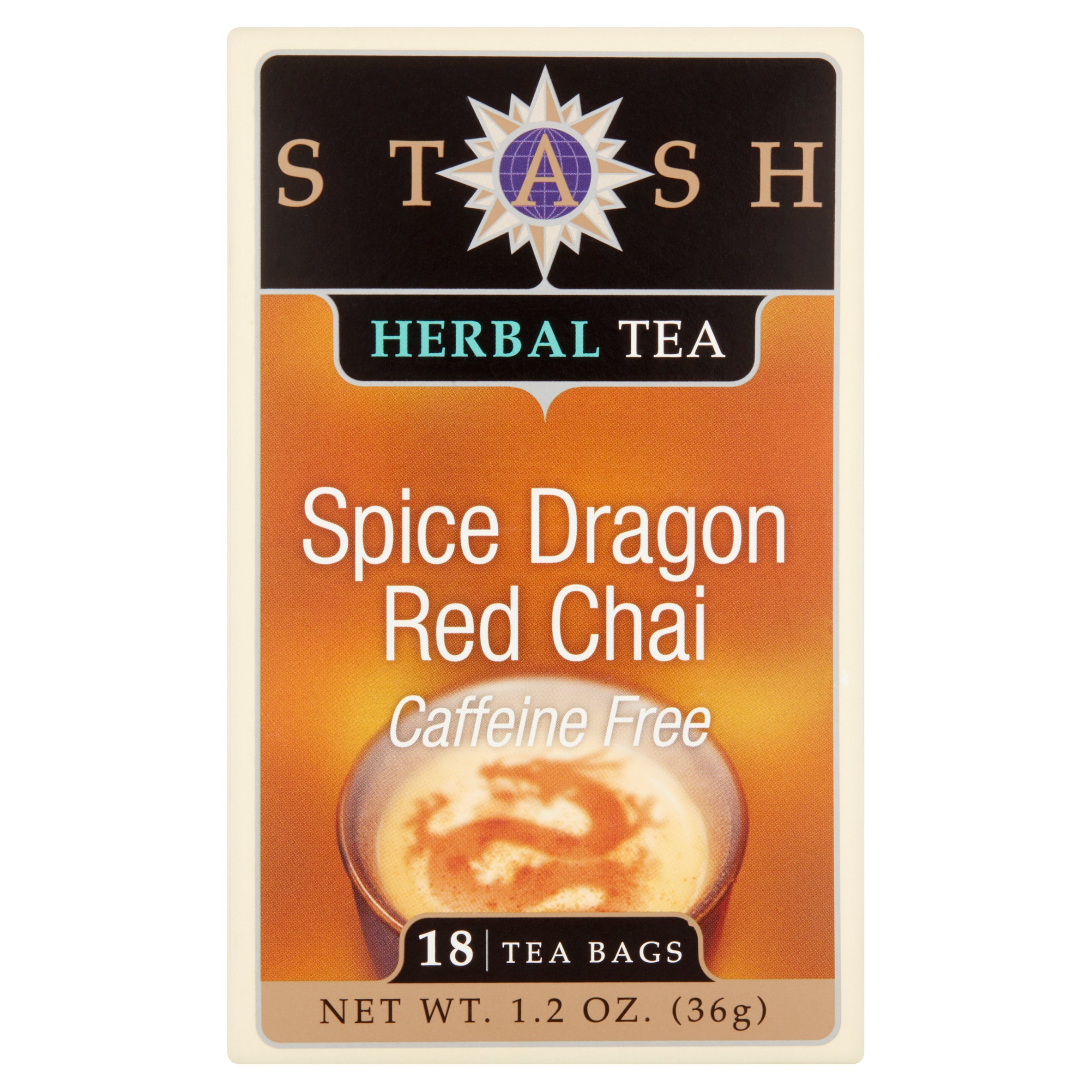 Stash Tea Spice Dragon Red Chai Herbal Tea, 18 Tea Bags, 36g