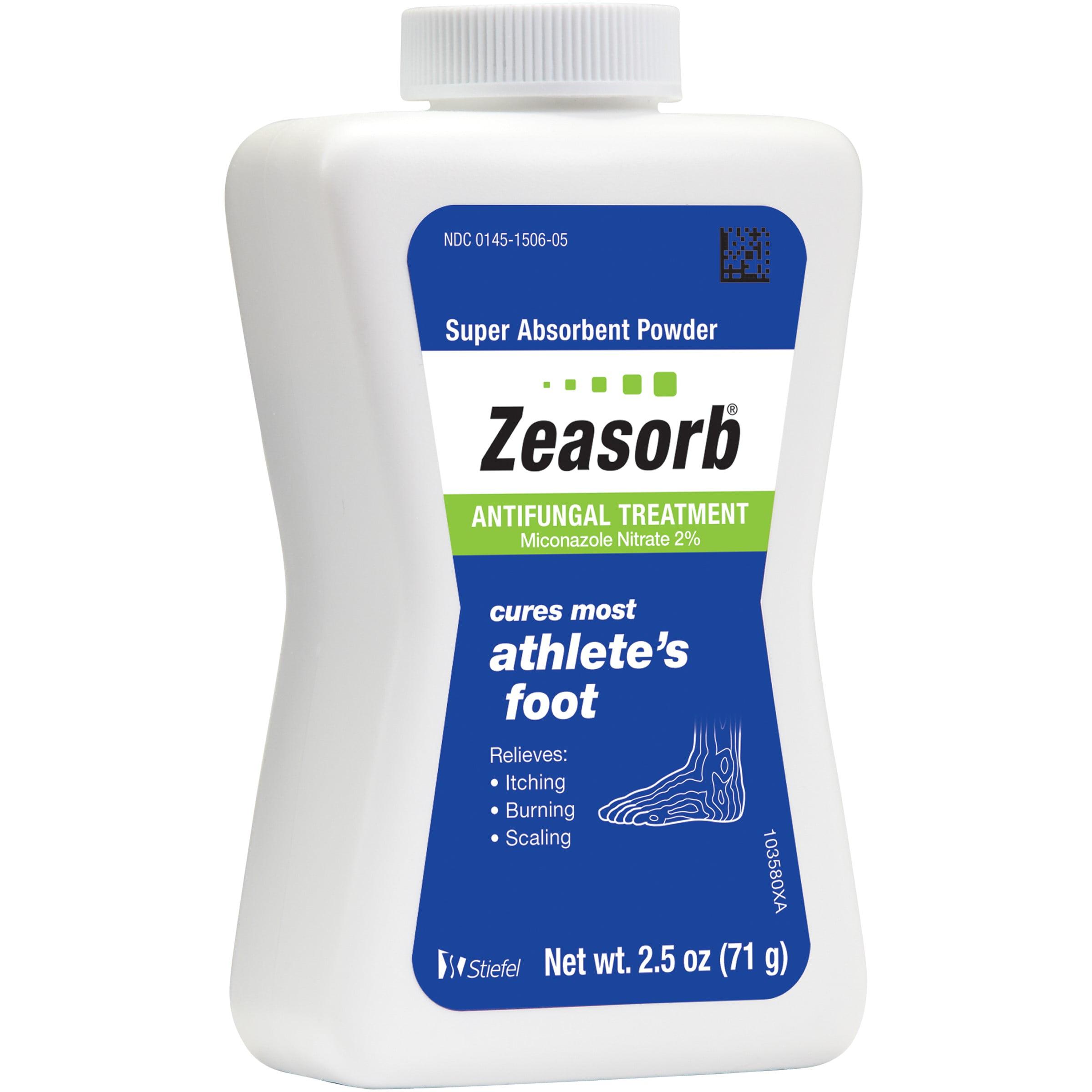 Zeasorb Athlete's Foot Antifungal Treatment Powder, Miconazole Nitrate 2%, 2.5 oz