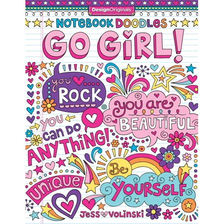 Notebook Doodles: Notebook Doodles Go Girl!: Coloring & Activity Book (Paperback)
