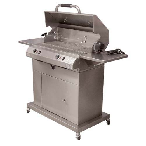 Electri-Chef 32 in. Electric Grill with Cart Dual Burner by Electri - Chef Grill