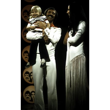 Sonny And Cher on stage with daughter Chastity Bono Photo Print - Sonny Bono Costumes