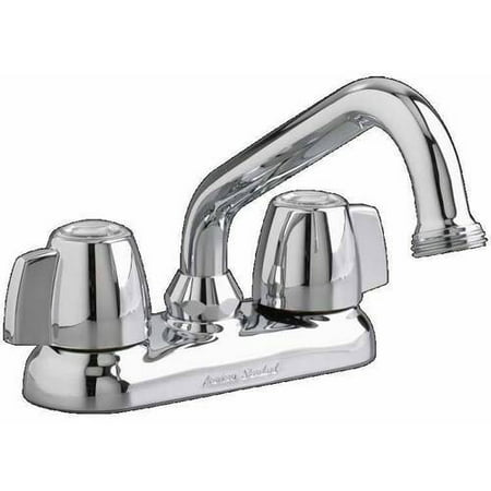 American Standard 7573.140.002 Laundry Faucet with Hose End and Metal Lever Handles,