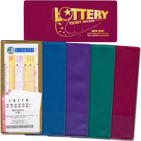 StoreSMART Mystic Metal Lottery Ticket Holders for Lottery Ticket Organization, Gifts and Storage, Pack of 5 (Lottery Ticket Holder)