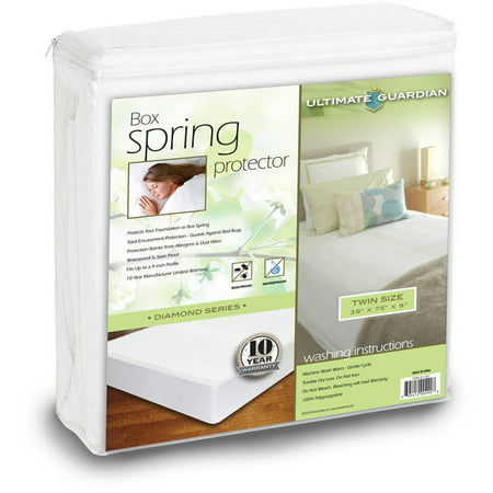 Ultimate Guardian, Lab Tested, 100 Percent Bed Bug Proof Box Spring Protector ()