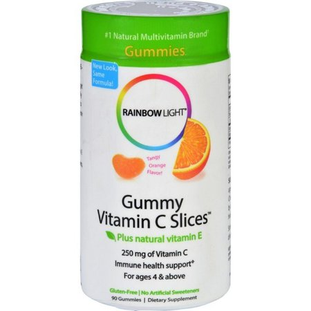 Rainbow Light Gummy Vitamin C Slices Tangy Tangerine 250