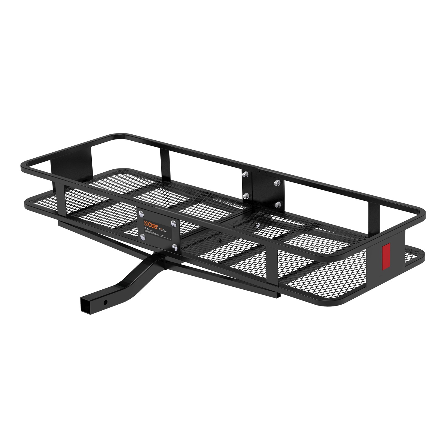 "Curt Manufacturing Cur18150 60"" x 20"" with 6"" Rails Class III Cargo Carrier Basket Fixed Shank"
