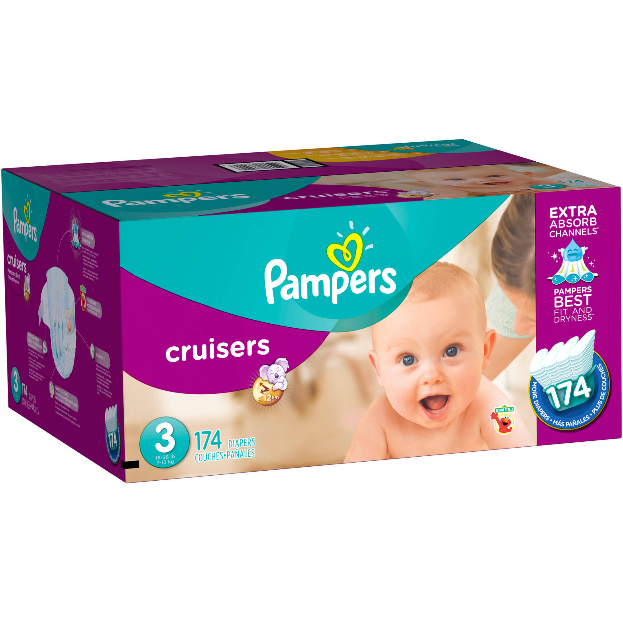Pampers Cruisers Diapers, Economy Pack Plus, (Choose Your Size)