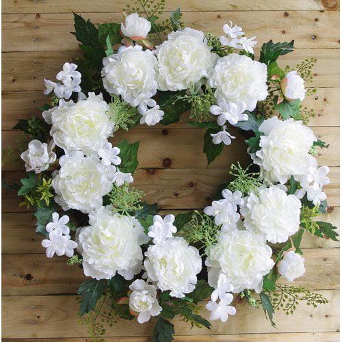 Ophelia & Co. Peony 24'' Wreath