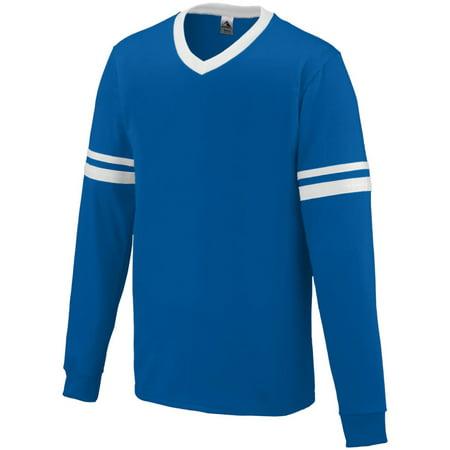 Augusta Long Sleeve Stripe Jersey Roy/Whi L - image 1 de 1