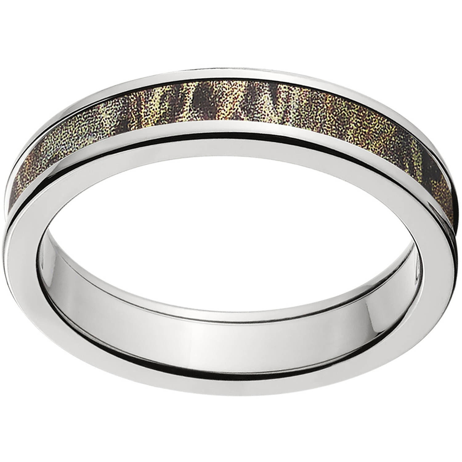 4mm Half-Round Titanium Ring with a RealTree Max 4 Camo Inlay