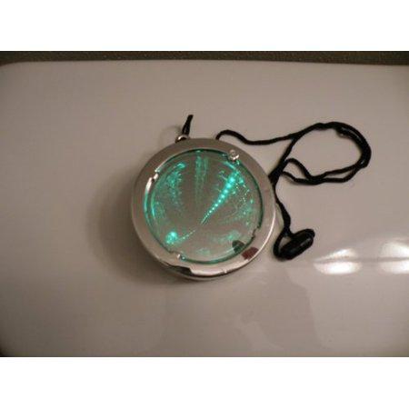 Flashing LED Strobe Infinity Tunnel Necklace Pendant - 6 Modes RGB