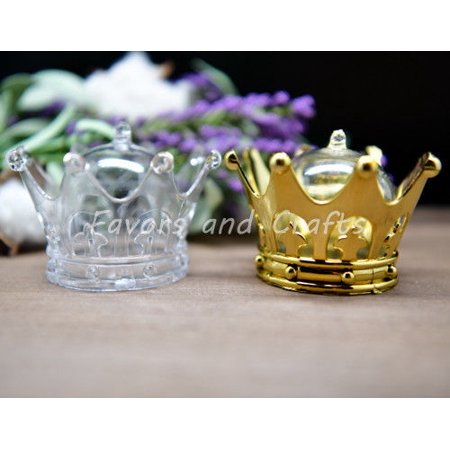(12 Pack) Fillable Crowns Quinceanera Princess Wedding Favors Recuerdos Corona Sweet 16
