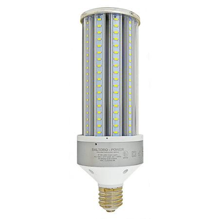 Baltoro CL6054 LED Corn Bulb, 360° Flood Light Replaces 250-300 Watt MH, HID, HPS & CFL Large Mogul Screw Base (E39) Area Light, 5000K UL & DLC, 7050 Lumen High (Mh Mogul Base)