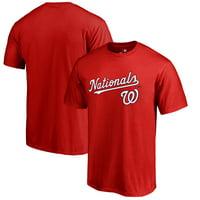 Washington Nationals Fanatics Branded Team Lockup T-Shirt - Red