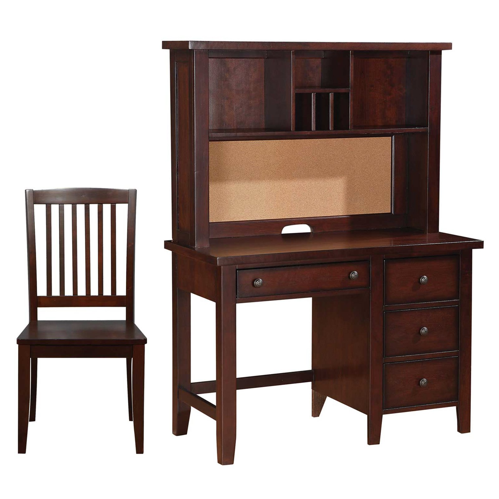 Winners Only Vintage 44 in. Writing Desk with Optional Hutch & Chair - Cherry