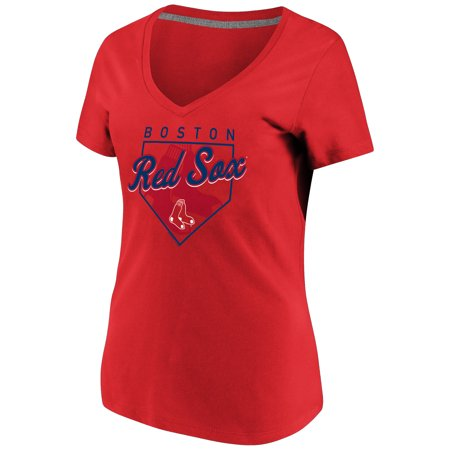 Women's Majestic Red Boston Red Sox Cling to the Lead V-Neck T-Shirt](Red Sox Store)