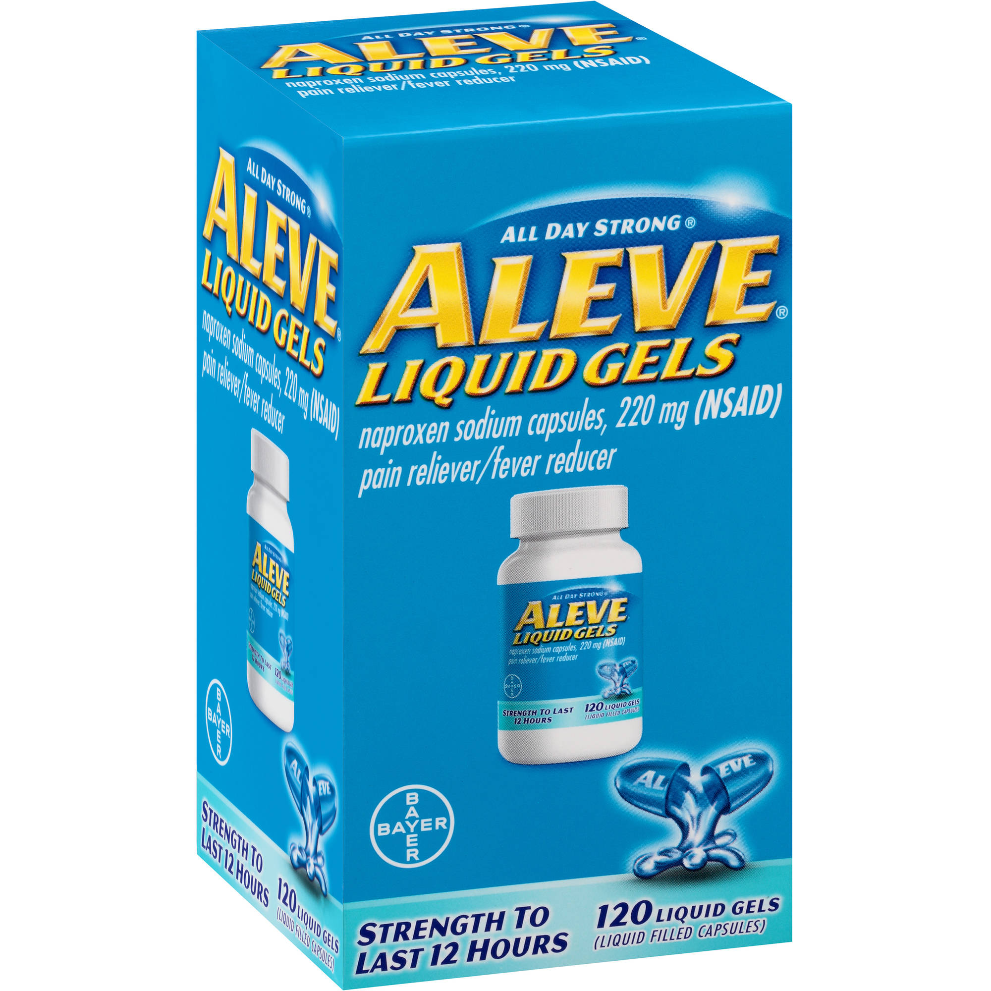 Aleve Pain Reliever/Fever Reducer Liquid Gels, 220mg, 120 count