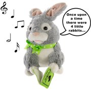 Simply Genius Storytelling Peter Rabbit, Animated Easter Bunny Plush, Talking Toys Stuffed Animals for Easter Decorations, Easter Basket