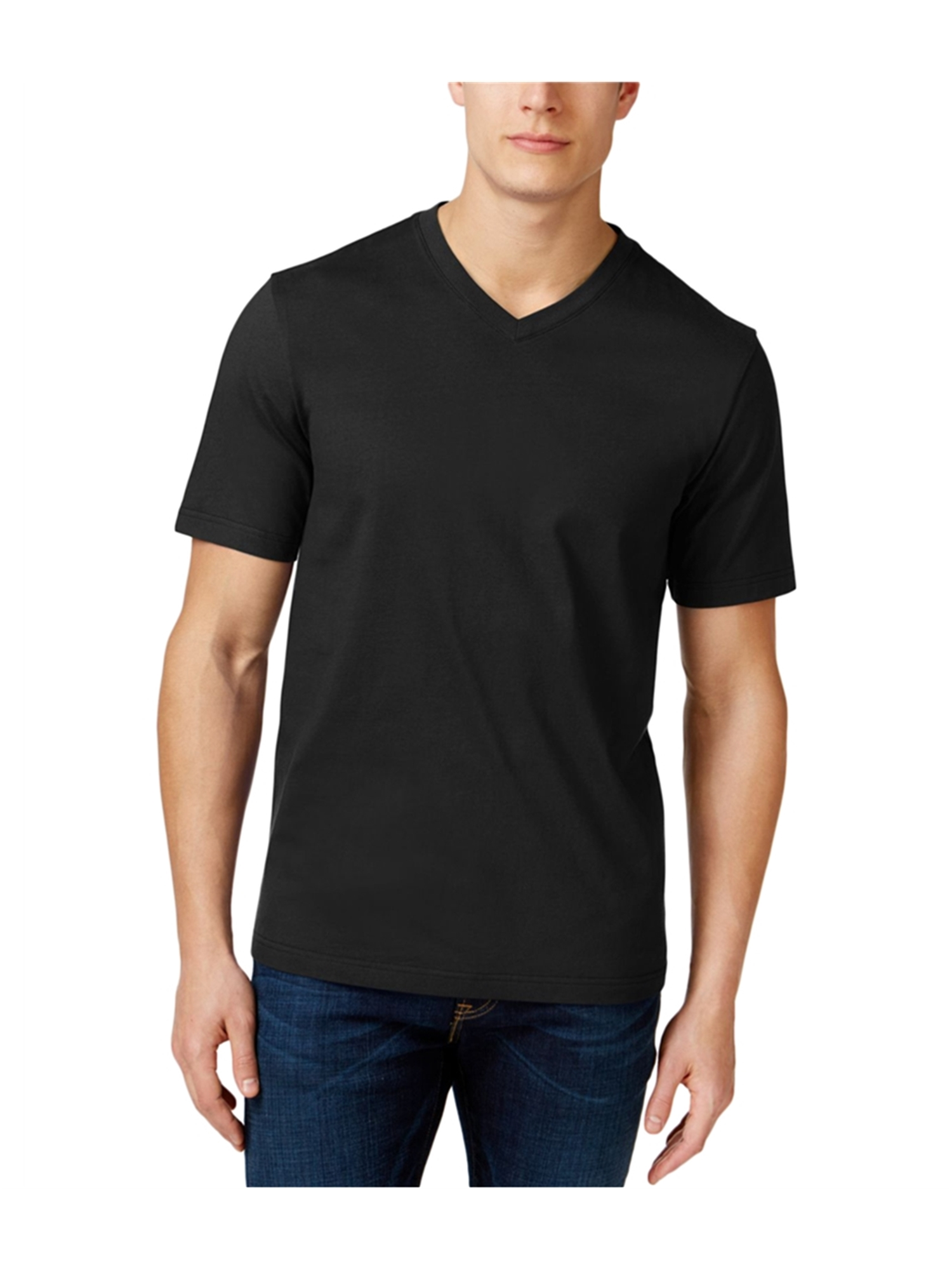 Club Room Mens Big /& Tall Solid Basic T-Shirt