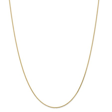 14k Yellow Gold 1mm Link Wheat Chain Necklace 20 Inch Pendant Charm Spiga Parisian Gifts For Women For Her