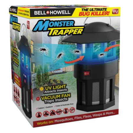 Vortex Insect Trap - Bell + Howell Monster Trapper - The Ultimate Bug Killer, UV Light Attracts Insects Vacuum Fan Traps Insects – As Seen on TV!