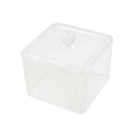 Clear Acrylic Square Makeup Storage Box Holder Case Jewelry Organizer - Square Up Store