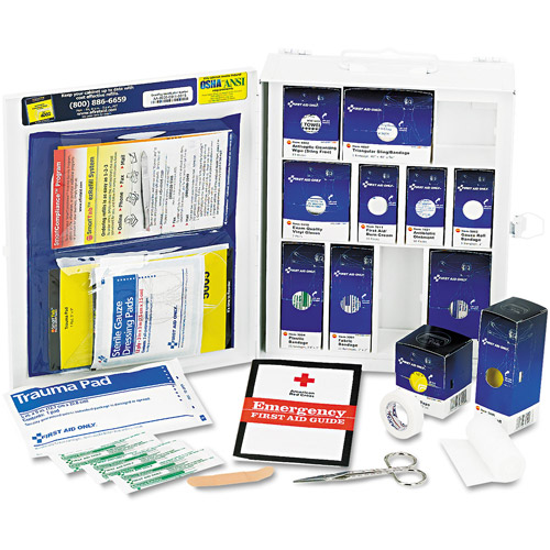 First Aid Only First Aid Kit & Metal Case, 112 pc