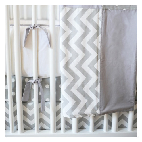 New Arrivals Zig Zag Baby 4 Piece Crib Bedding Set