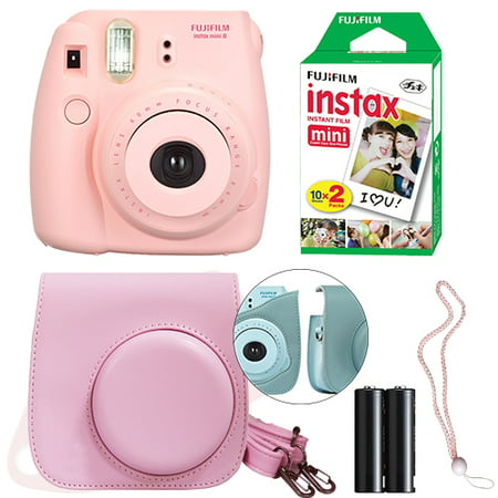 Fujifilm Instax Mini 8 Instant Film Camera Kit (Pink)