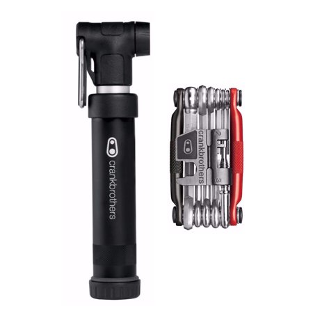 Crank Brothers Gem S Compact Pump (Black) with M17 Bike Multi Tool -