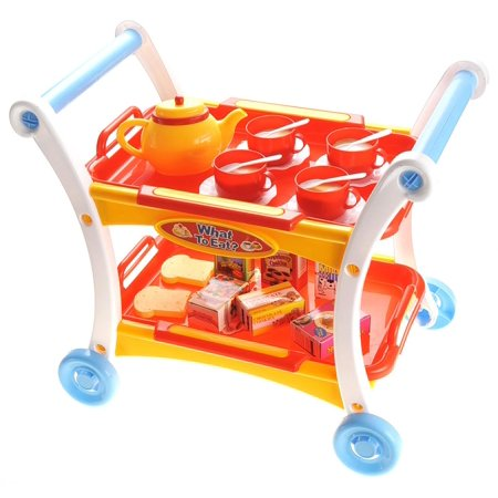 23-Piece Afternoon Tea Time Trolley Pretend Play Set