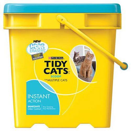 Instant Action Clumping Cat Litter, Pouch 17Pound Premium...
