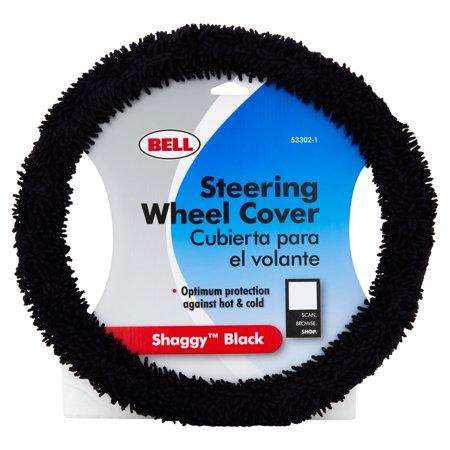 Bell Steering Wheel Cover  Shaggy Black