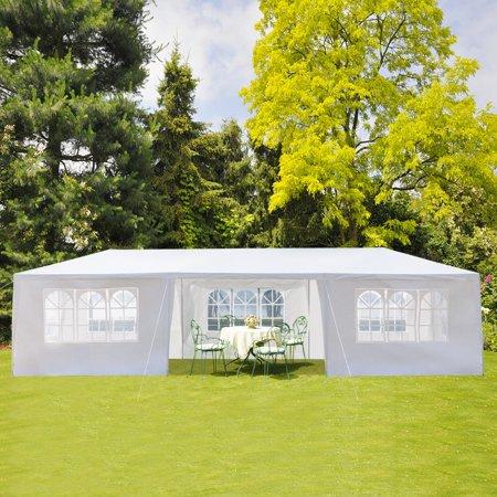 Gazebo Party Tent - Ktaxon 10'x30' Canopy Party Wedding Outdoor Patio Tent Canopy Gazebo Pavilion w/7 Side Walls