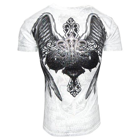 Konflic NWT Men's Saint's Royalty Graphic Designer Muscle T-shirt White - Small - image 1 de 2