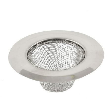 Brass Decorative Basins Stainless Steel - Bathroom Round Design Silver Tone Stainless Steel Basin Sink Drainer