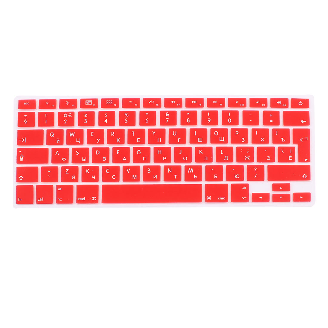 Russian Silicone Keyboard Skin Cover Red for Apple Macbook Air 13 15 17  EU