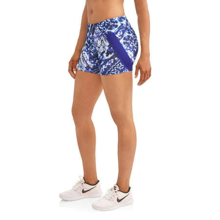 Women's Tie Dye Patchwork Active Bike Shorts