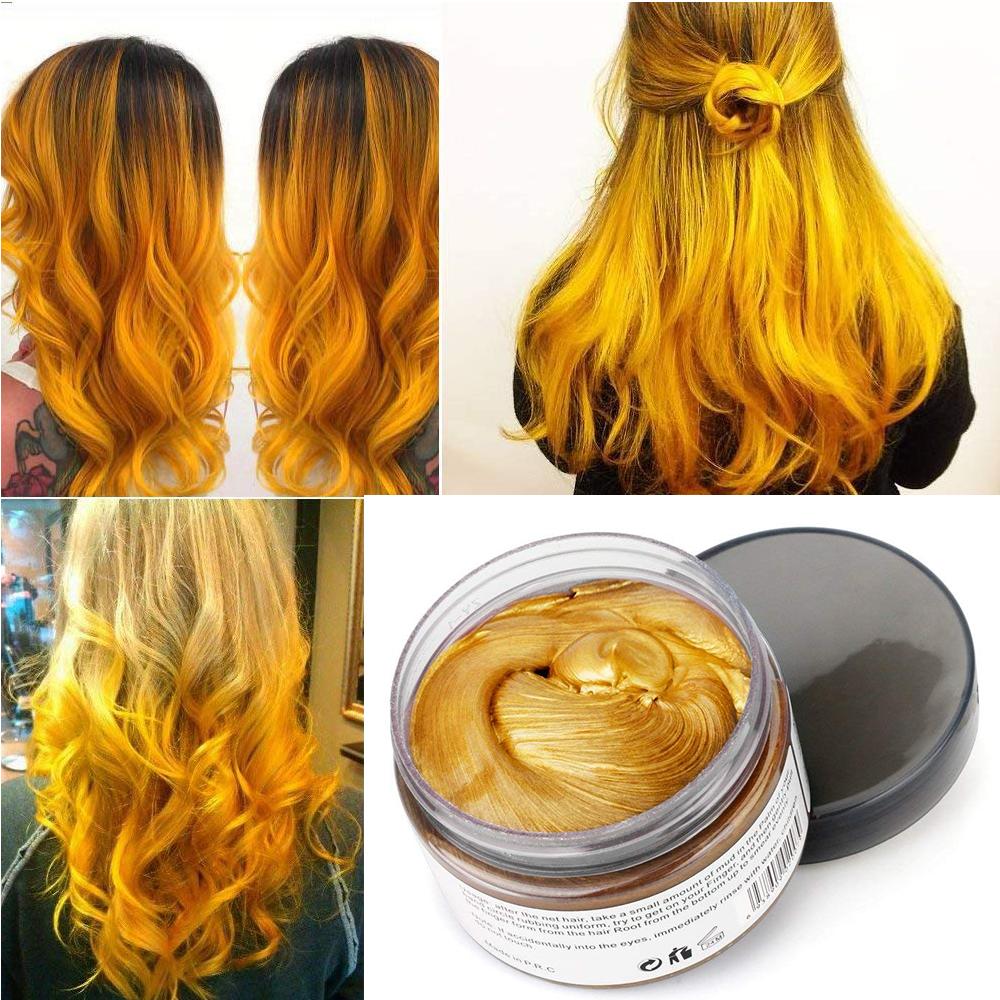 Hair Wax Temporary Hair Coloring Styling Cream Mud Dye - Gray
