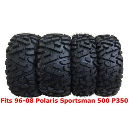 Set 4 WANDA ATV tires 25x8-12 & 25x11-10 for 96-08 Polaris Sportsman 500 (Polaris 500 Atv)