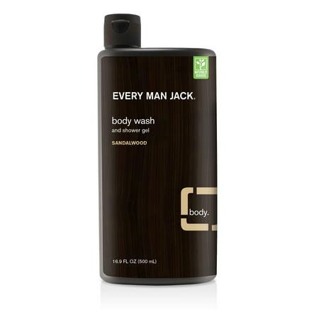Every Man Jack Body Wash, Sandalwood, 16.9 Oz