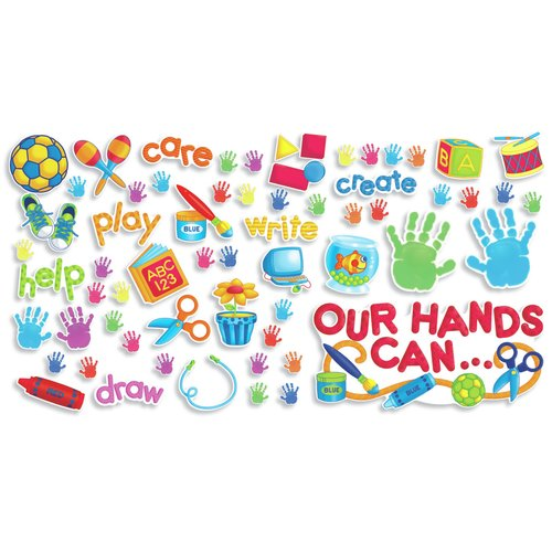 Teachers Friend Our Hands Can Bulletin Board Cut Out