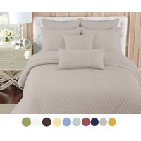 NC Home Fashions Contour solid color quilt set, Twin, Bright White