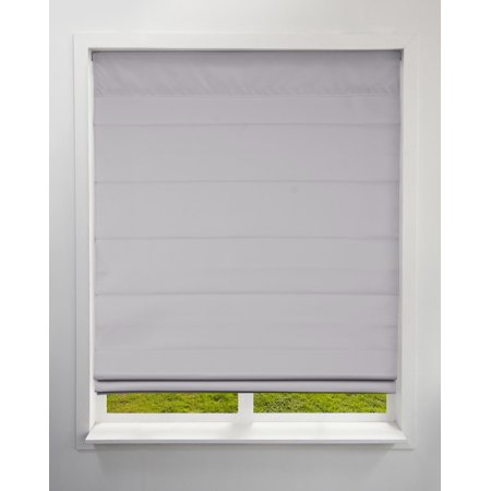 Kona Natural Roman Shade (Arlo Blinds Cordless Fabric Roman Shades Blackout Grey,22