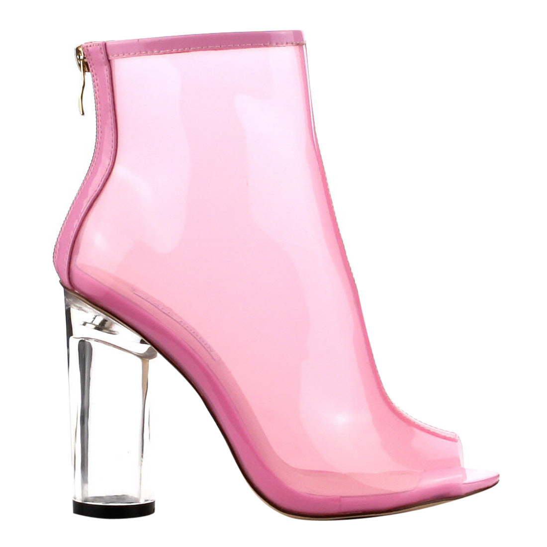 1a3a8648e34 Cape Robbin - CAPE ROBBIN FF66 Women s Peep Toe Block Clear Perspex Heel  Ankle Booties - Walmart.com