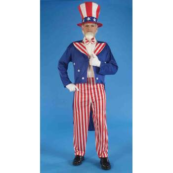 Fireman Sam Halloween Costumes (COSTUME-ADULT UNCLE SAM)
